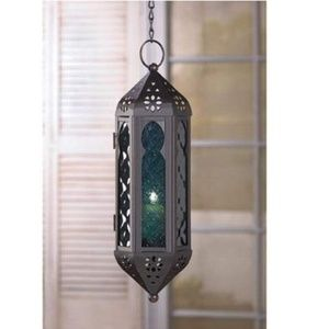 Other - 💠Ocean Blue Glass Serenity Hanging Candle Lantern